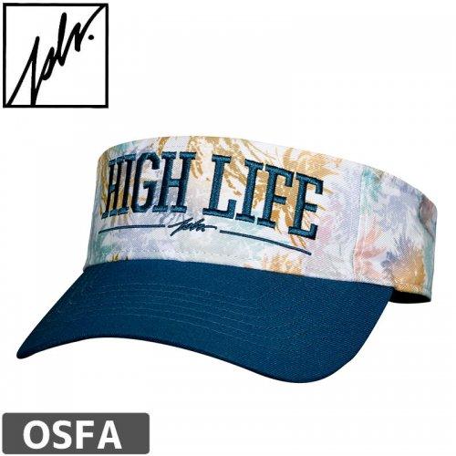 【ジャスリブ CAP スノボー JSLV スケボー キャップ】HIGH LIFE VISOR STRAP BACK サンバイザー NO21