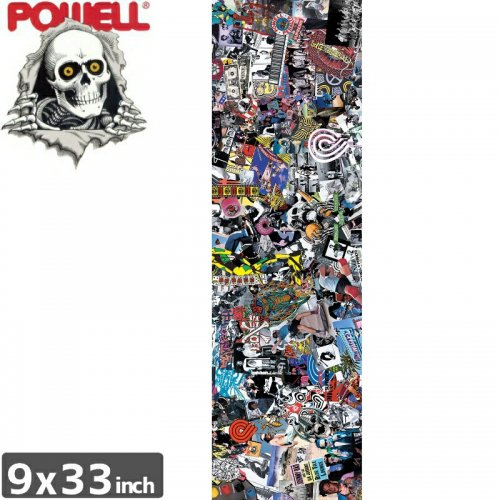 【パウエル POWELL GRIPTAPE デッキテープ】COLLAGE GRIP TAPE SHEET【9x33】NO1