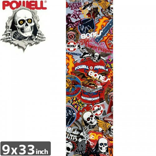 【パウエル POWELL GRIPTAPE デッキテープ】STICKER GRIP TAPE SHEET【9x33】NO2