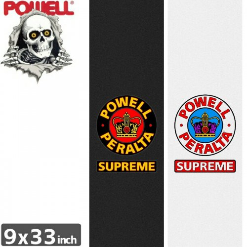 【パウエル POWELL GRIPTAPE デッキテープ】SUPREME CROWN GRIP TAPE SHEET【9x33】【2カラー】NO4