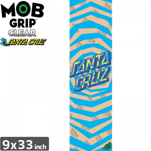 【モブグリップ MOB GRIP デッキテープ】SANTA CRUZ ILLUSSION DOT CLEAR GRIP【クリア】【9x33】NO174