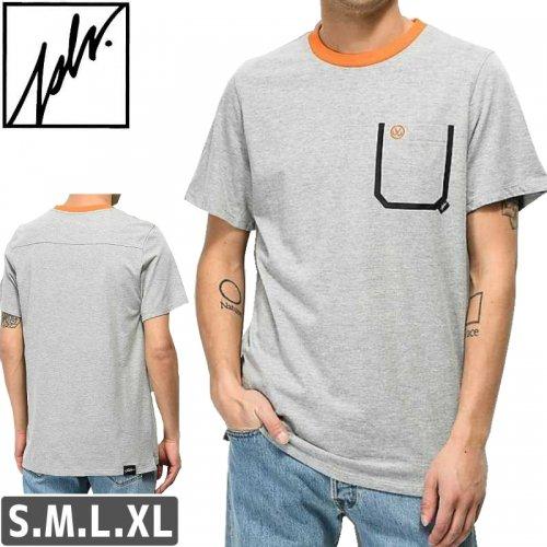 【ジャスリブ JSLV スケボー Tシャツ】LAZER S/S KNIT TEE【ヘザーグレー】NO20