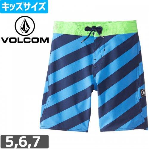 【VOLCOM ボルコム キッズ ボードショーツ】STRIPEY ELASTIC LY 水着【ユースサイズ】NO31