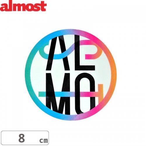 【ALMOST オルモスト ステッカー】CAR CRASSH【8cm x 8cm】NO103