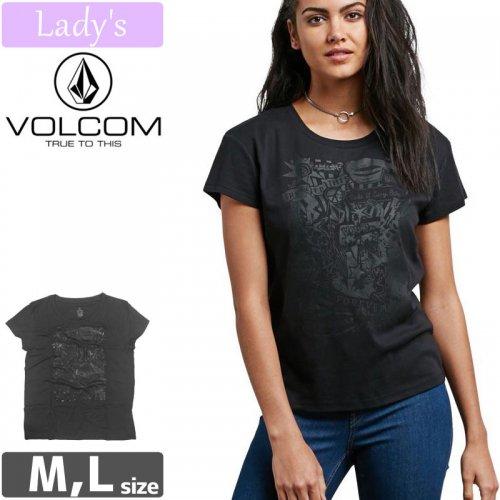 【VOLCOM WOMENS ボルコム レディース Tシャツ】EASY BABE RAD 2【ブラック】NO4