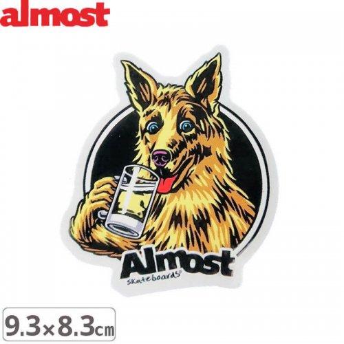 【ALMOST オルモスト ステッカー】BREW SINGLE【9.3cm x 8.3cm】NO104