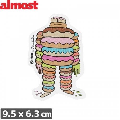 【ALMOST オルモスト ステッカー】DOUGH SINGLE【9.5cm x 6.3cm】NO105