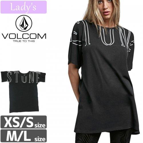【VOLCOM WOMENS ボルコム レディース Tシャツ】STONE LUV TUNIC チュニック【ブラック】NO5