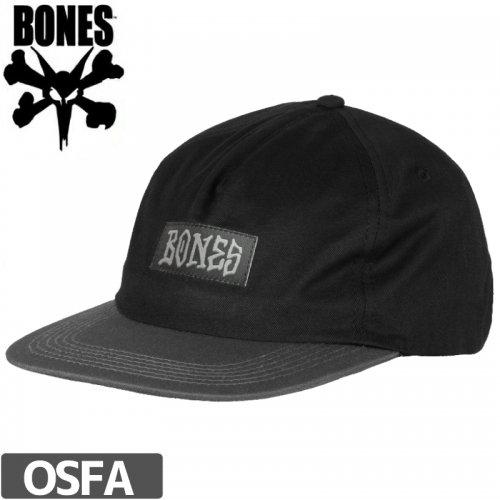 【BONES ボーンズ スケボー キャップ】SHADES HAT【ブラック】NO17