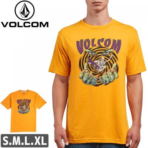【VOLCOM ボルコム Tシャツ】MYSTICO S/S TEE【ゴールド】NO101