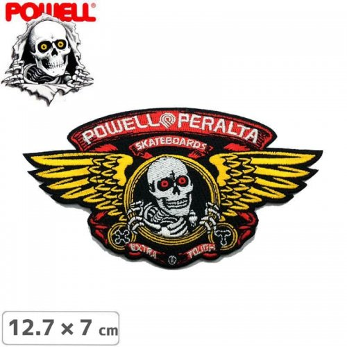 【パウエル POWELL スケボー ワッペン】PATCH PP WINGED RIPPER【12.7cm x 7cm】NO9