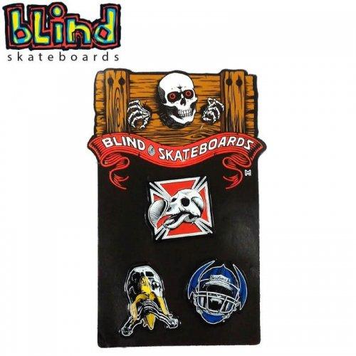 【ブラインド BLIND スケボー ピンバッチ】HERITAGE PIN CARD【3個セット】NO1
