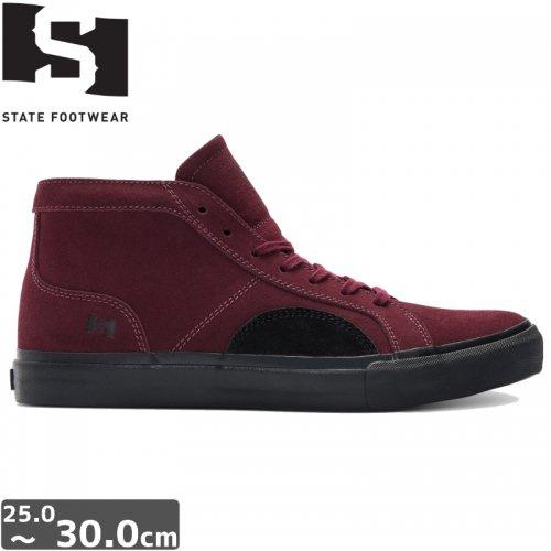 【STATE FOOTWEAR ステート スケート シューズ】SALEM SHOES【ブラックチェリー】NO1