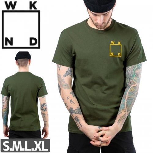 【ウィークエンド WKND スケボー Tシャツ】LOGO TEE【カーキ】NO12