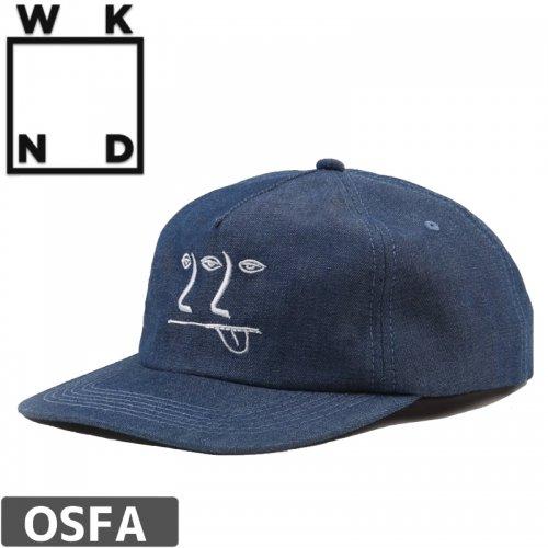【ウィークエンド WKND スケボー キャップ CAP】3-2-1 FACE HAT【インディゴ】NO3