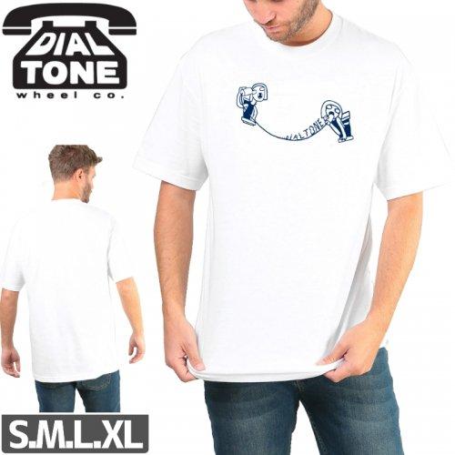 【ダイアルトーン DIAL TONE WHEELS スケボー Tシャツ】TIN CAN TEE【ホワイト】NO5