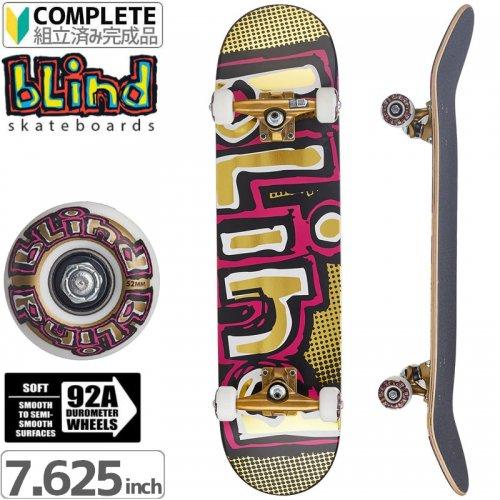 【ブラインド BLIND スケートボード コンプリート】OG FOIL GOLD PREMIUM COMPLETE 92A[7.625インチ]NO111