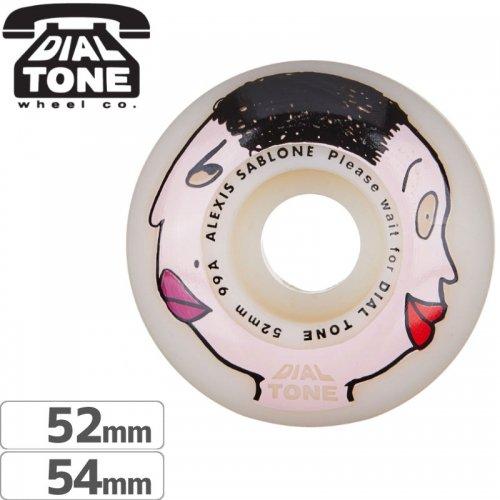 【ダイアルトーン DIAL TONE WHEELS スケボー ウィール】ALEXIS SABLONE TWO FACE STANDARD WHEEL【99A】【52mm】NO1