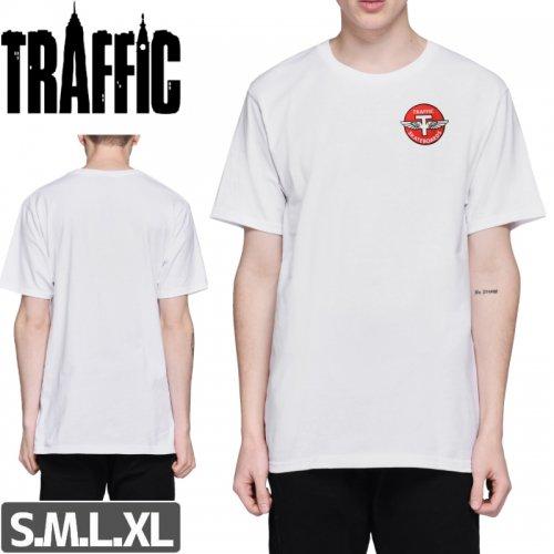 【トラフィック TRAFFIC スケボー Tシャツ】FLYING-T TEE【ホワイト】NO1