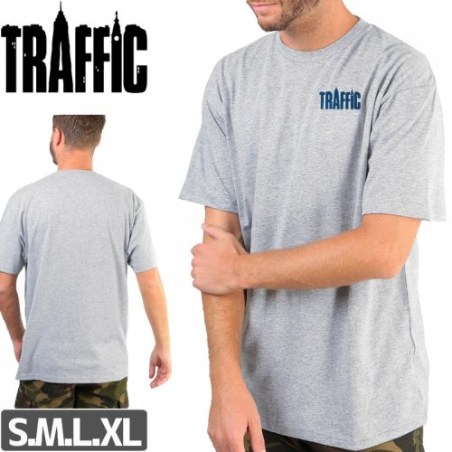 【トラフィック TRAFFIC スケボー Tシャツ】MANHATTAN LOGO TEE【ヘザーグレー】NO2