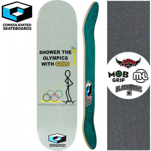 【CONSOLIDATED コンソリデーテッド スケートボード デッキ】SHOWER OLYMPICS DECK[8.0インチ]NO20