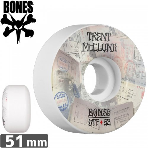 【ボーンズ BONES スケボーウィール】PRO MCCLUNG PASSPORT STF【V1】【51mm】NO165