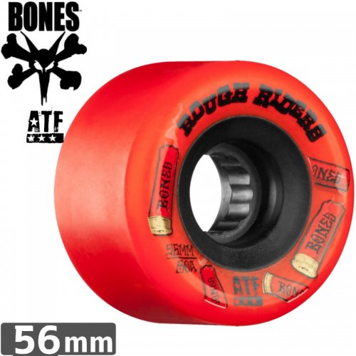 【ボーンズ BONES スケボーウィール】ROUGH RIDERS SHOTGUN RED ATF【80A】【56mm】NO166
