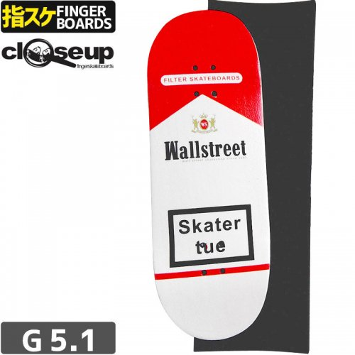 【クローズアップ フィンガーボード CLOSE UP FINGERBOARD】BOARD WALL STREET + RIPTAPE【33mm】NO15