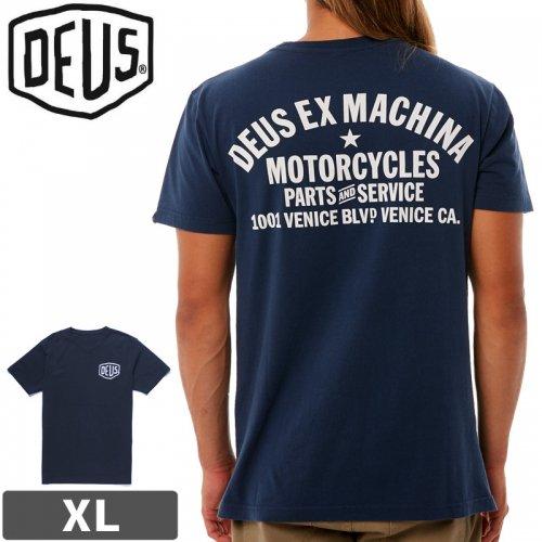 【DEUS EX MACHINA デウス ストリート Tシャツ】Venice Address Tee【ネイビー】NO9
