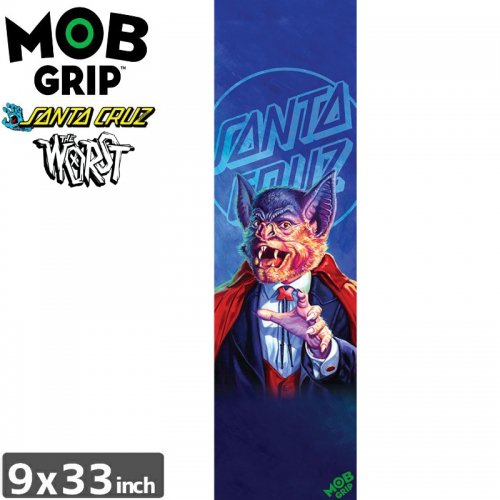 【モブグリップ MOB GRIP デッキテープ】SANTA CRUZ THE WORST BATULA GRIPTAPE【9 x 33】NO183