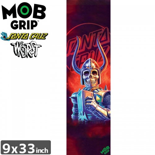 【モブグリップ MOB GRIP デッキテープ】SANTA CRUZ THE WORST BLACK FALCON GRIPTAPE【9 x 33】NO184