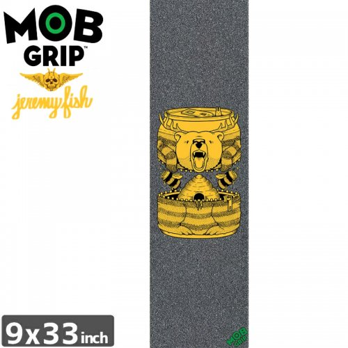 【モブグリップ MOB GRIP デッキテープ】JEREMY FISH BUMBLE BEER BELLY GRIPTAPE【9 x 33】NO186