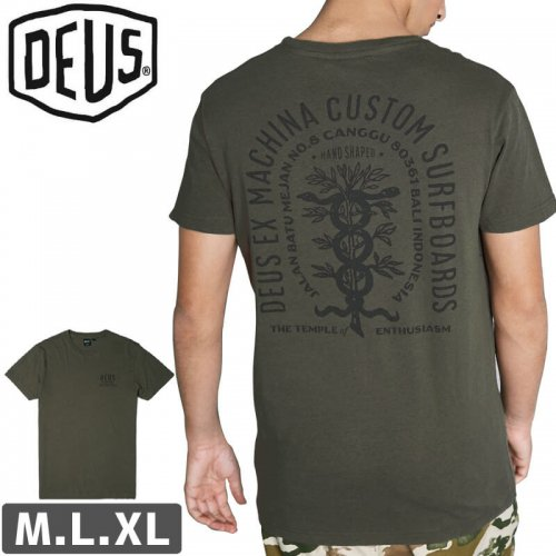 【DEUS EX MACHINA デウス サーフ ストリート Tシャツ】EVERITT TEE【オリーブ】NO11