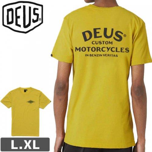 【DEUS EX MACHINA デウス バイク ストリート Tシャツ】GRAVITY TEE【フェデットイエロー】NO17