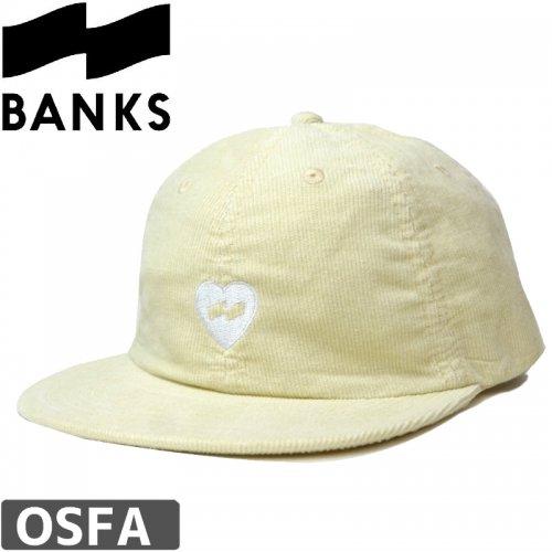 【BANKS JOURNAL バンクス サーフ キャップ】HEART HAT BONE【クリーム】NO2