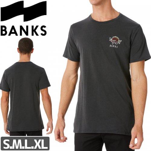 【BANKS JOURNAL バンクス サーフ Tシャツ】SUBMERGE CLASSIC TEE【ブラック】NO3
