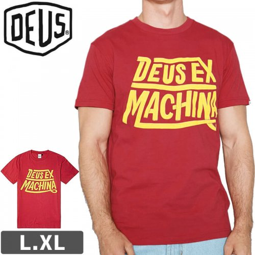 【DEUS EX MACHINA デウス バイク ストリート Tシャツ】PRISTINE TEE【サンセットレッド】NO20