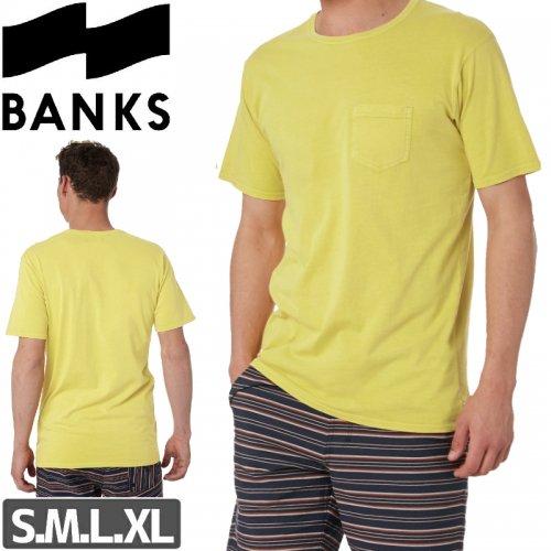 【BANKS JOURNAL バンクス サーフ Tシャツ】STAPLE FADED TEE【イエロー】NO5