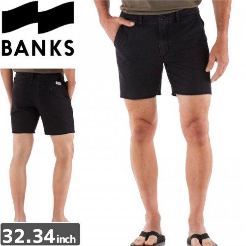 【BANKS JOURNAL バンクス ハーフパンツ ショーツ】FORMAL WALKSHORTS【ブラック】NO7