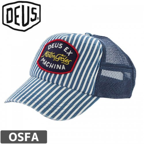 1週間SALE!【DEUS EX MACHINA デウス バイク サーフ キャップ 帽子】Ford Trucker Hat【インディゴ】NO2