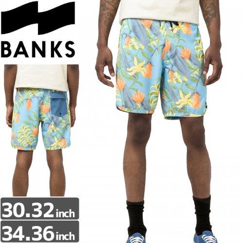 【BANKS JOURNAL バンクス パンツ ボードショーツ】DRIFTER BOARDSHORT【ブルー】NO10