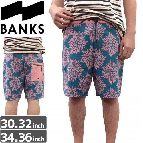 【BANKS JOURNAL バンクス パンツ ボードショーツ】DAISY CHAIN BOARDSHORT【ブルー】NO12