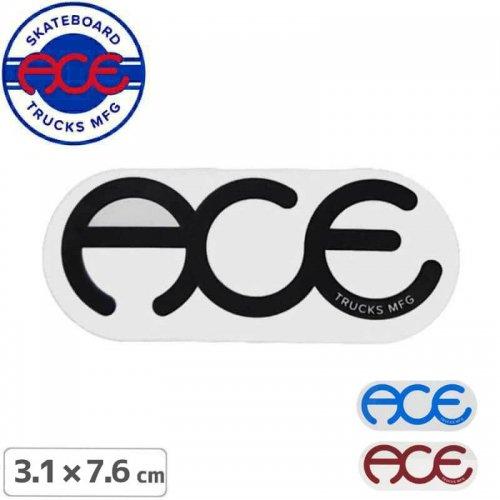 【ACE TRUCKS エース スケボー ステッカー】RINGS LOGO【3.2cm × 7.7cm】NO2