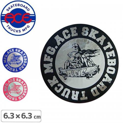 【ACE TRUCKS エース スケボー ステッカー】ROUND LOGO【6.3cm × 6.3cm】NO5