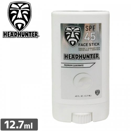 【ヘッドハンター HEADHUNTER 日焼け止め スティック】Reef Safe SPF45 Mineral Sunscreen Face Stick【クリア/ホワイト】NO1