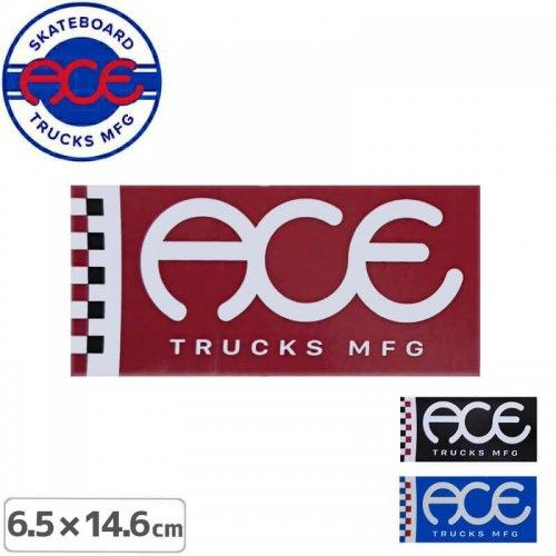 【ACE TRUCKS エース スケボー ステッカー】FLAG LOGO【6.5cm × 14.6cm】NO11