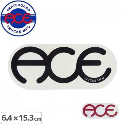 【ACE TRUCKS エース スケボー ステッカー】RINGS LOGO【6.4cm × 15.3cm】NO12