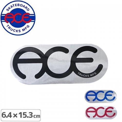 【ACE TRUCKS エース スケボー ステッカー】RINGS LOGO【6.4cm × 15.3cm】NO13