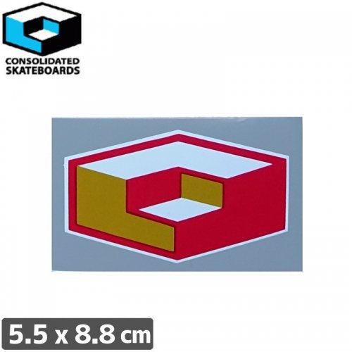 【CONSOLIDATED コンソリデーテッド スケボー ステッカー】CUBES【5.5cm x 8.8cm】NO57
