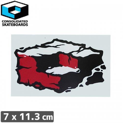 【CONSOLIDATED コンソリデーテッド スケボー ステッカー】CUBES【7cm x 11.3cm】NO61